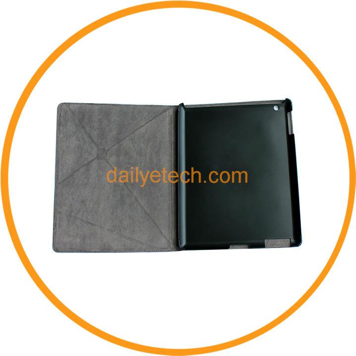 Foldable for iPad 2 3 Leather Case with Stand Gray from Dailyetech