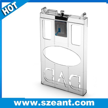 China Factory EAS Retails Store Security Alarm System Safer Box, anti-theft security safer box clear EC-3029