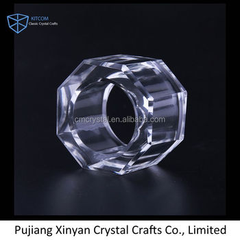 New coming unique design round wedding crystal napkin ring with good price