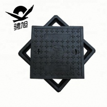 B125 EN124 square composite water meter box standard manhole cover size