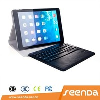 2 in 1 Detachable wireless bluetooth ABS keyboard leather case for iPad Air 2