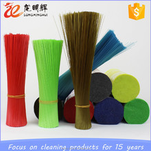 China supplier PP PET flaggable plastic broom brush bristle filament