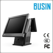 "BUSIN Brand TI5-D3 pax pos terminal with 4G memory/ 128G SSD/ 15"" Capacitive touch screen/9.7"" customr display"