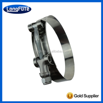 T-bolt heavy duty stainless steel hose clamp hydraulic pipe clamp