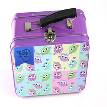Custom Kids Tin Lunch Box Plain,Lunch Tin Box With Lock and Key