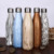 high quality 18/8 double wall stainless steel wood grain printing cola shaped thermos sport water bottles