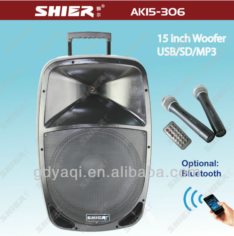 shier wireless portable dsp power amplifier with trolley