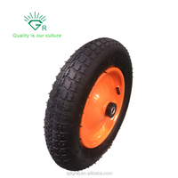 13 Inch Air FIlled Tire Pneumatic Welded Rim Replacement Wheel for Wheelbarrow and Hand Trucks and Lawn Carts