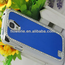 FL2626 Guangzhou Luxury Diamond Brushed Metal Aluminum Chrome Hard Case Cover for samsung galaxy s4 i9500