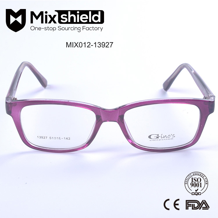 2016 New Model Transparent Purple Colour Optical Spectacle Frames