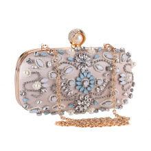 X62490A women wedding bridal handbag luxury crystal clutch evening bag