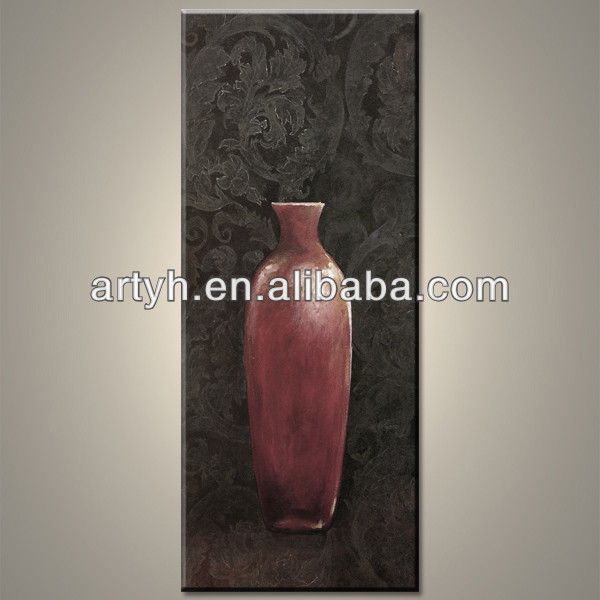 Hot Sale Oil Painting Modern Vase On Canvas