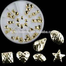 3D nail art supplies nails accessories wholesale alloy nail art decoraction in wheel