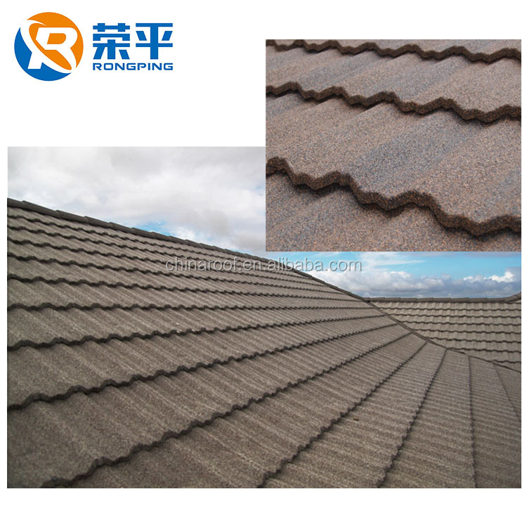 Building Materials For House Aluminum Zinc Steel Stone Coated Metal Roofing Modern Classical Tiles