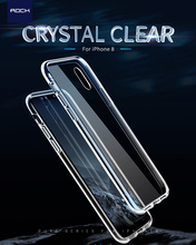 ROCK Crystal Clear Phone Case for iphone X Pure Series PC Back Cover TPU Frame Protective Case