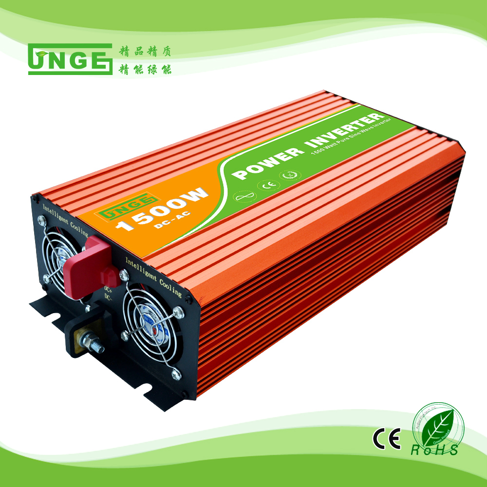high frequency pure sine wave 1500 watts 12v 24v solar inverter
