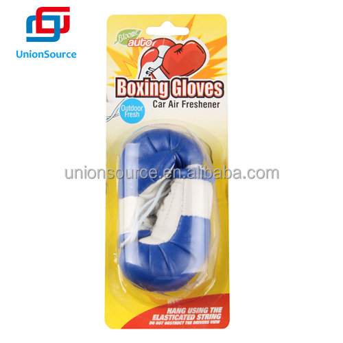 Boxing gloves shaped hanging car air freshener
