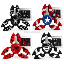 Super Hero Series The Flash Batman SpiderMan Captain America Ironman Metal Bearing Gold Fidget Hand Finger Spinner target Toy