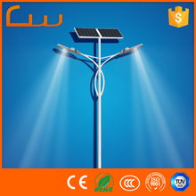 Double arms 80Watt two fixtures LED solar street lighting