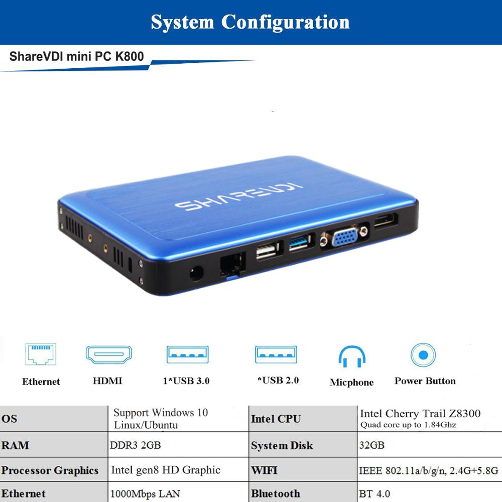Small desktop computer 2GB 32GB Low cost ultra low power mini pc with Windows10 Linux