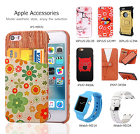 Flower Print Back Card Holder Slots PC Hard Shell Cover for iPhone 5/5S-AE