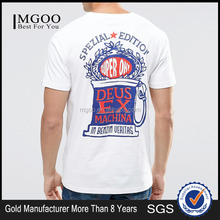 MGOO Hot Sale Pima Cotton Print T-shirt Wholesale Custom Silk Screen Print Shirts Long Tail Tshirt Mens Custom