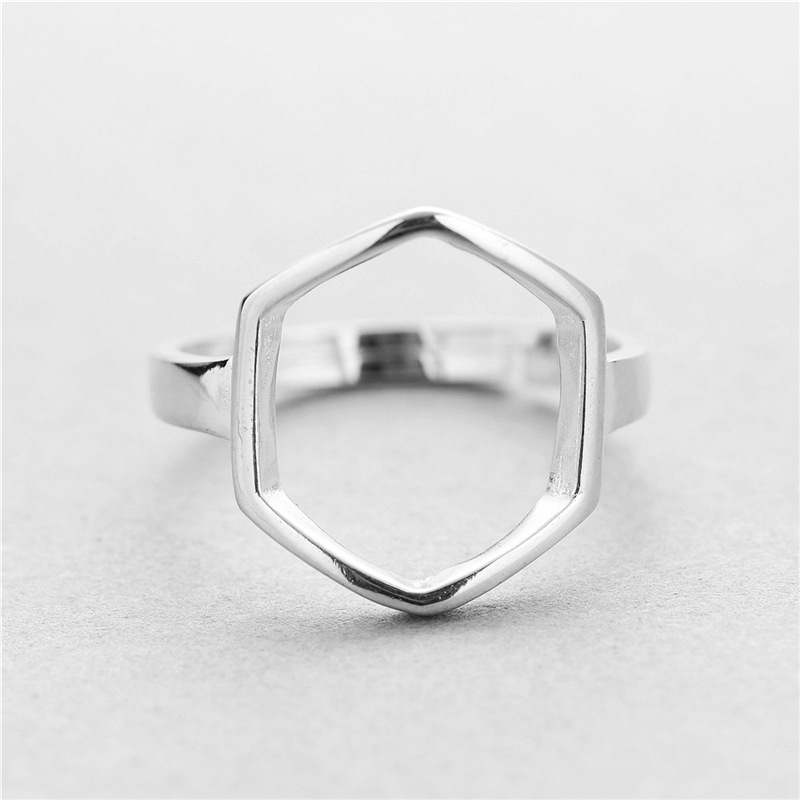MYLOVE FREE SHIPPING wholesale fashion hexagon 925 sterling silver ring jewelry