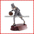 2014 Hot sale custom resin woemen Metal basketball Trophy