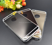 Luxury mirror phone case Electroplating Soft Clear TPU Cases For iphone 7 7 plus Cover