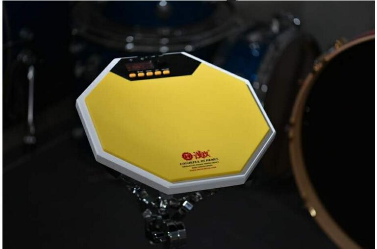colorful 12 inch silicone rubber surface + wood base material metronome practice pad
