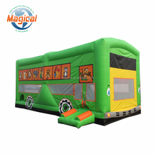 New kids bouncer toy inflatable school bus bounce house