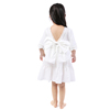 boutique white girl party dress frock design girl wedding dress with big bow