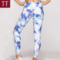 Wholesale Woman Athletic Wear Sublimate Flowers Yoga Pants