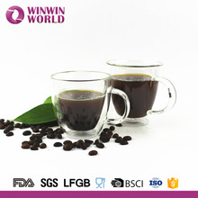 Promotion Borosilicate Double Wall Glass Mug For Coffee Tea Beer Juice