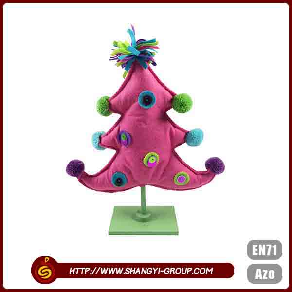 Christmas party used high quality cute tree shape table decor