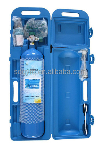 121-4L medical oxygen cylinder with DY-2 and plastic box