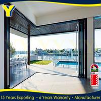 YY Construction well design folding style garage door accordion shower doors