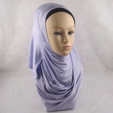 Dubai muslim two faces plain jersey instant wholesale shawl hijab