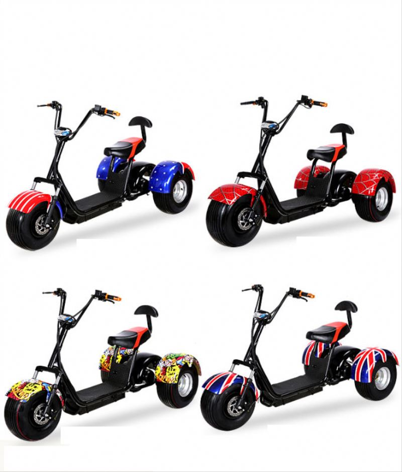2017 citycoco 3 wheels 200km off road 250w 3 wheel chariot electric tricycle scooter with CE