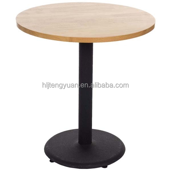 Wood Tabletop Dining Cafe Table