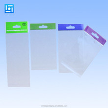 small mini printed header cardboard clear self adhesive opp header plastic packaging bag with strong self adheisve sealing tape