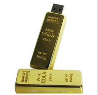 Promotional gift Gold Bar usb flashdrive mental golden usb 8gb 16gb