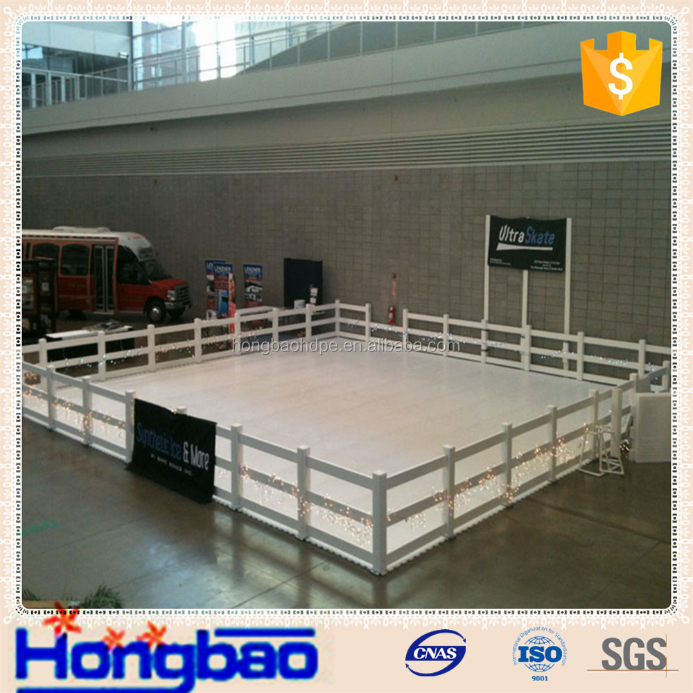 chemical resistance custom size ice rink barriers