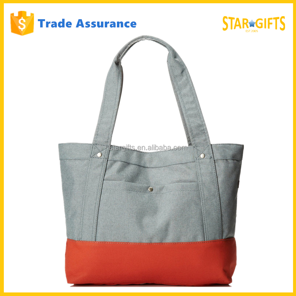 China Factory Wholesale Fabric Polyester Shopping Bag With Snap