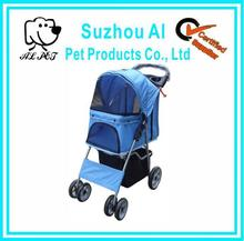 Folding 4 Wheel Travel Pet Carrier Strollers