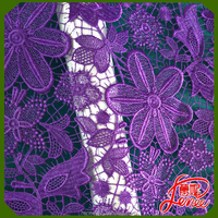 Elegant Color Floral Chemical Embroidery Fabric For Evening Dress