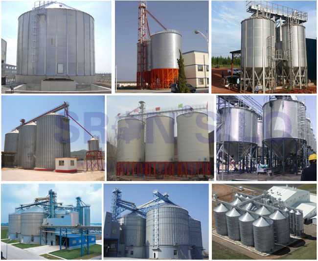 SRON Customized Wood Chip Bin Silo, Steel Silo Used For Wood Pellet Storage