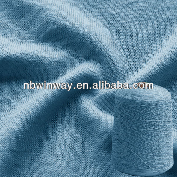 Linen cotton yarn//blendded yarn//dyed linen and cotton