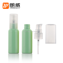 Plastic PET Travel Set with 50ml 4 Pieces Bottles Lotion Bottle Tonner Bottle with Caps Carry-on Travel Pack for Cosmetic