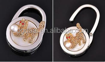 hot sale bling bling bag hanger and handbag purse hanger for ladies